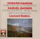 HANSON - Slatkin - Symphonie n°2 op.30
