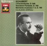 SCHUBERT - Arrau - Trois Klavierstücke, pour piano D.946
