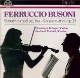 BUSONI - Edinger - Sonate pour violon n°1 op.29 en mi mineur