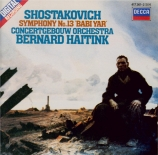 CHOSTAKOVITCH - Haitink - Symphonie n°13 op.113 'Babi-Yar'