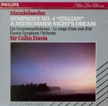MENDELSSOHN-BARTHOLDY - Davis - Symphonie n°4 en la majeur op.90 'Italie