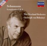 SCHUMANN - Dohnanyi - Symphonie n°3 pour orchestre en mi bémol majeur op