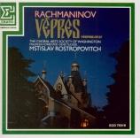 RACHMANINOV - Rostropovich - Les vêpres, pour choeur a cappella op.37