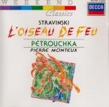 STRAVINSKY - Monteux - L'oiseau de feu, suite de concert pour orchestre