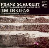 SCHUBERT - Quatuor Bulgare - Quintette à cordes à deux violoncelles en d