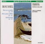 ROUSSEL - Gallois - Trio pour violon, alto et violoncelle op.58