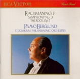RACHMANINOV - Berglund - Symphonie n°3 en la mineur op.44