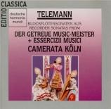 Blockflötensonaten aus der Getreuer Music-Meister + Essercizii Musici