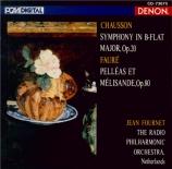CHAUSSON - Fournet - Symphonie op.20 (import Japon) import Japon