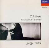 SCHUBERT - Bolet - Sonate pour piano en la majeur D.959