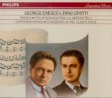 ENESCU - Lipatti - Sonate pour violon et piano n°3 op.25