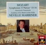 MOZART - Marriner - Symphonie n°31 en ré majeur K.297 (K6.300a) 'Paris'