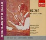 MOZART - Klemperer - Cosi fan tutte (Ainsi font-elles toutes), opéra bou