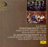 MOZART - Hagen Quartett - Quintette à cordes n°4 K.516
