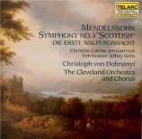 MENDELSSOHN-BARTHOLDY - Dohnanyi - Symphonie n°3 en la mineur op.56 'Sch