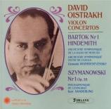 BARTOK - Oistrakh - Concerto pour violon n°1 Sz.36 BB.48a