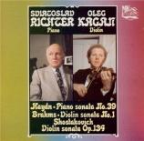 BRAHMS - Kagan - Sonate pour violon et piano n°1 en sol majeur op.78
