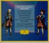 MOZART - Amadeus Quartet - Quatuor pour flûte et cordes n°1 en ré majeur