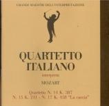 MOZART - Quartetto Itali - Quatuor à cordes n°14 en sol majeur K.387