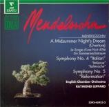 MENDELSSOHN-BARTHOLDY - Leppard - Symphonie n°4 op.90 'Italienne'