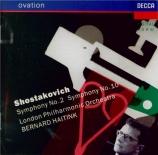 CHOSTAKOVITCH - Haitink - Symphonie n°2 op.14