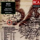 HOLST - Ormandy - The planets (Les planètes), pour orchestre op.32
