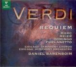 VERDI - Barenboim - Messa da requiem, pour quatre voix solo, chœur, et o