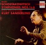 CHOSTAKOVITCH - Sanderling - Symphonie n°1 op.10