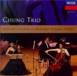 MENDELSSOHN-BARTHOLDY - Chung Trio - Trio avec piano n°1 en ré mineur op