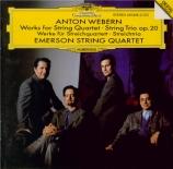 Oeuvres pour quatuor à cordes