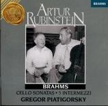BRAHMS - Piatigorsky - Sonate pour violoncelle et piano n°1 en mi mineur