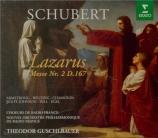 SCHUBERT - Guschlbauer - Lazarus oder Die Feter der Auferstehung, cantat