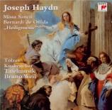 HAYDN - Weil - Missa Sti Bernardi von Offida, pour solistes, chœur mixte