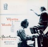 SCHUMANN - Rigutto - Concerto pour piano et orchestre en la mineur op.54