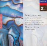 SCHOENBERG - Mehta - Verklächte Nacht (La nuit transfigurée) op.4