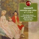 MOZART - Mutter - Concerto pour violon n°1 K.207