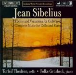 SIBELIUS - Thedeen - Andante molto pour violoncelle et piano JS.36