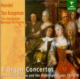HAENDEL - Koopman - Concerto pour orgue n°14 en la majeur n°13 HWV.296a