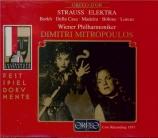 STRAUSS - Mitropoulos - Elektra, opéra op.58 (live Salzburg 7 - 8 - 1957) live Salzburg 7 - 8 - 1957