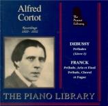 DEBUSSY - Cortot - Préludes I, pour piano L.117