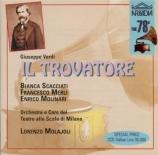 VERDI - Molajoli - Il trovatore, opéra en quatre actes (version original