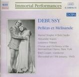 DEBUSSY - Cooper - Pelléas et Mélisande, drame lyrique avec orchestre L