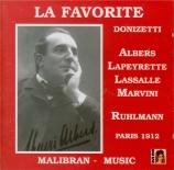 DONIZETTI - Ruhlmann - Favorite (La) : extraits de la version française