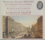 MOZART - Talich Quartet - Quintette à cordes n°3 en do majeur K.515