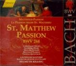BACH - Rilling - Passion selon St Matthieu(Matthäus-Passion), pour soli Vol.74