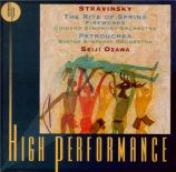 STRAVINSKY - Ozawa - Le sacre du printemps, ballet pour orchestre