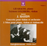 HAYDN - Kraus - Concerto pour violon et orchestre n°1 en do majeur Hob.V Vol.4