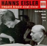 EISLER - Arnold - Lieder