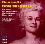 DONIZETTI - Steiner - Don Pasquale (En allemand - Version abrégée) En allemand - Version abrégée