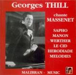 MASSENET - Thill - Airs d'opéras